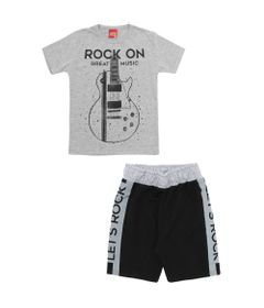 Conjunto-Infantil---Camiseta-e-Bermuda---100-Algodao---Guitarra---Mescla---Kyly---4