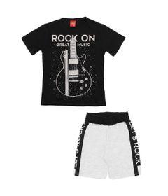 Conjunto-Infantil---Camiseta-e-Bermuda---100-Algodao---Guitarra---Preto---Kyly---4