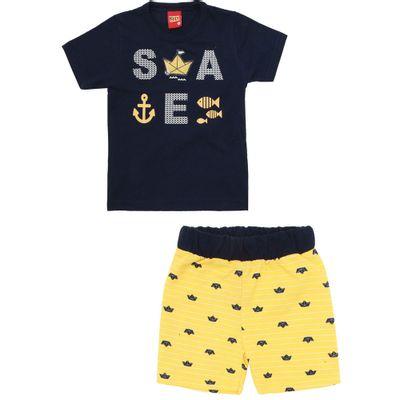 Conjunto-Infantil---Camiseta-e-Bermuda---100-Algodao---Sea---Azul-Marinho---Kyly---1