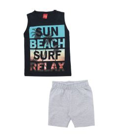 Conjunto-Infantil---Camiseta-e-Bermuda---100-Algodao---Sun-Beach---Azul-Marinho---Kyly---4