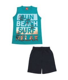 Conjunto-Infantil---Camiseta-e-Bermuda---100-Algodao---Sun-Beach---Verde---Kyly---4
