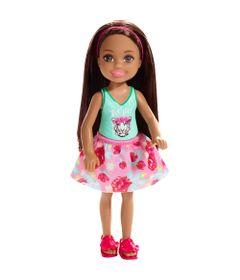 Mini-Boneca---Familia-da-Barbie---Chelsea-Club---Morena---Blusa-Tigre---Mattel