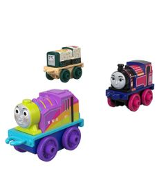 Mini-Veiculos---Thomas-e-Friends---Minis---Sushi-Diesel-Ashima-e-Rainbow-Rosie---Fisher-Price