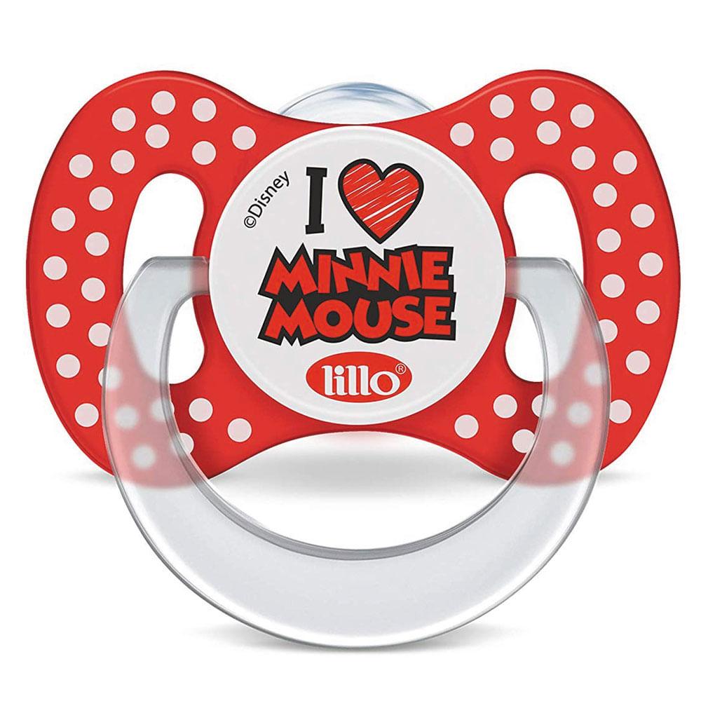 Chupeta com Bico Ortodôntico - Tam 2 - Disney - Minnie Mouse - Vermelha - Lillo
