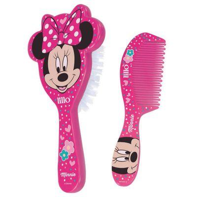 Conjunto-de-Higiene---Escova-de-Cabelo-e-Pente---Disney---Minnie-Mouse---Lillo