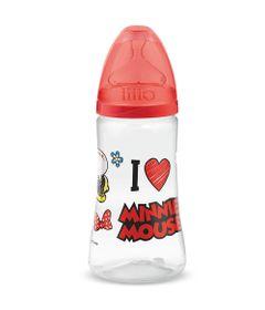 Mamadeira-Transparente---300Ml---Disney---Minnie-Mouse---Vermelha---Lillo