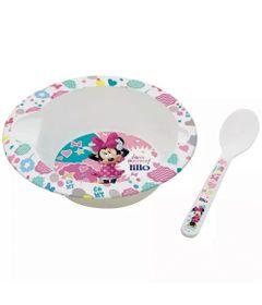 Prato-Fundo-com-Colher---Disney---Minnie-Mouse---Lillo