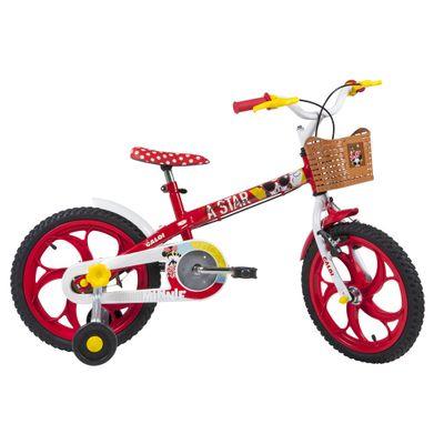 Bicicleta-ARO-16---Disney---Minnie-Mouse---Vermelho---Caloi
