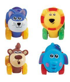 Conjunto-de-Carrinhos---Roda-Livre---Gato-Leao-Elefante-e-Macaco---Zoo-Cars---Minimi_Frente
