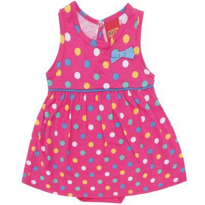 Vestido-com-Body---100-Algodao---Bolinhas---Rosa-Choque---Kyly---P