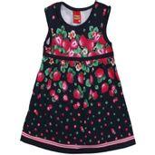 Vestido-Infantil---100-Algodao---Morangos---Azul-Marinho---Kyly---2