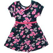 Vestido-Infantil---Algodao-e-Poliester---Flores---Azul-Marinho---Kyly---2