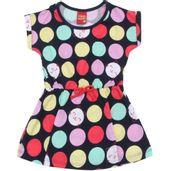 Vestido-Infantil---Meia-Malha---Bolas-Coloridas---Azul-Marinho---Kyly---2