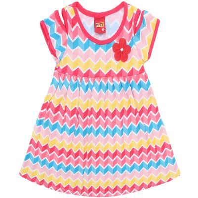 Vestido-Infantil---Meia-Malha---Geometrico---Vermelho---Kyly---2