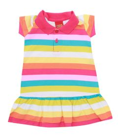 Vestido-Infantil---Meia-Malha---Listras---Rosa-Choque---Kyly---2