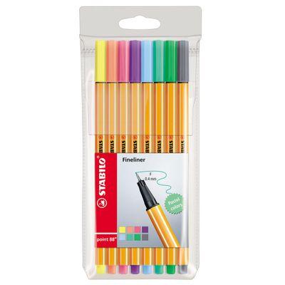 Conjunto-de-Canetas---Point-Fineliner-Neon---88-Mini---8-Cores---Stabilo