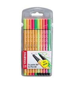 Conjunto-de-Canetas---Point-Neon---88-Mini---10-Cores---Stabilo