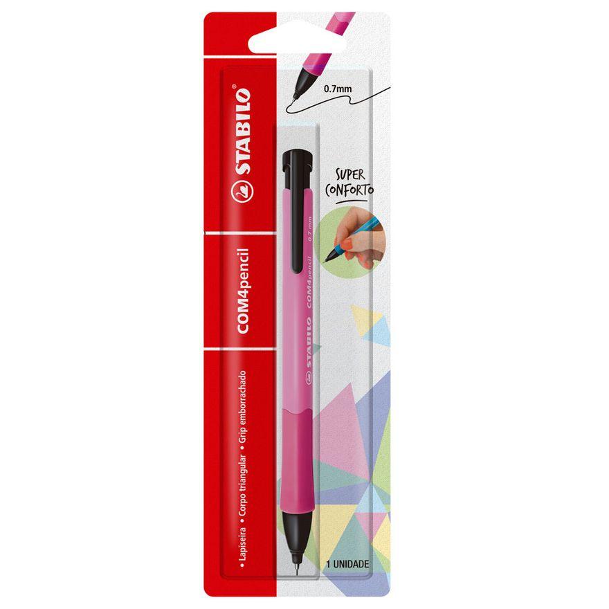 Lapiseira-07mm---Com4Pencil---Rosa---Stabilo