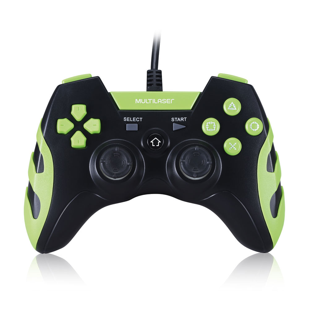 Controle Gamer - 3 em 1 - PS3 - PS2 e PC - Verde - Multikids