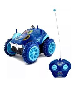 Veiculo-de-Controle-Remoto---PJ-Masks---3-Funcoes---Menino-Gato---Roda-Azul----Candide