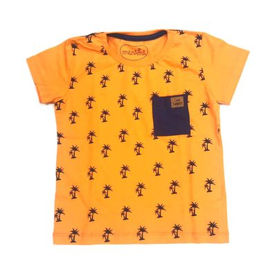 Camiseta-Manga-Curta---Estampa-Clip---100-Algodao---Azul----Minimi---1