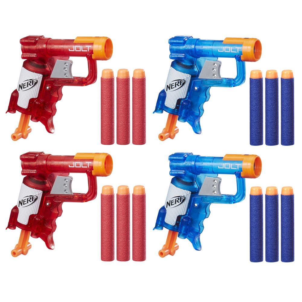 Lançadores Nerf - Nerf N-Strike - Jolt - Ice Sonic Fire - 4 Lançadores - Hasbro