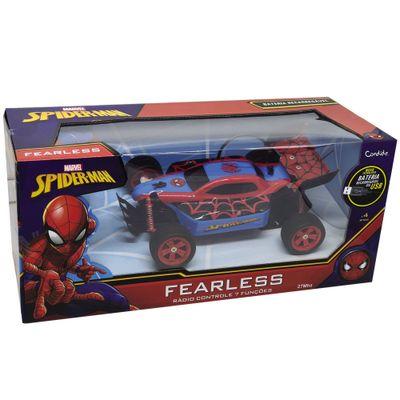Veiculo-de-Controle-Remoto---Disney---Marvel---Spider-Man---Vermelho-e-Azul---Fearless---Candide