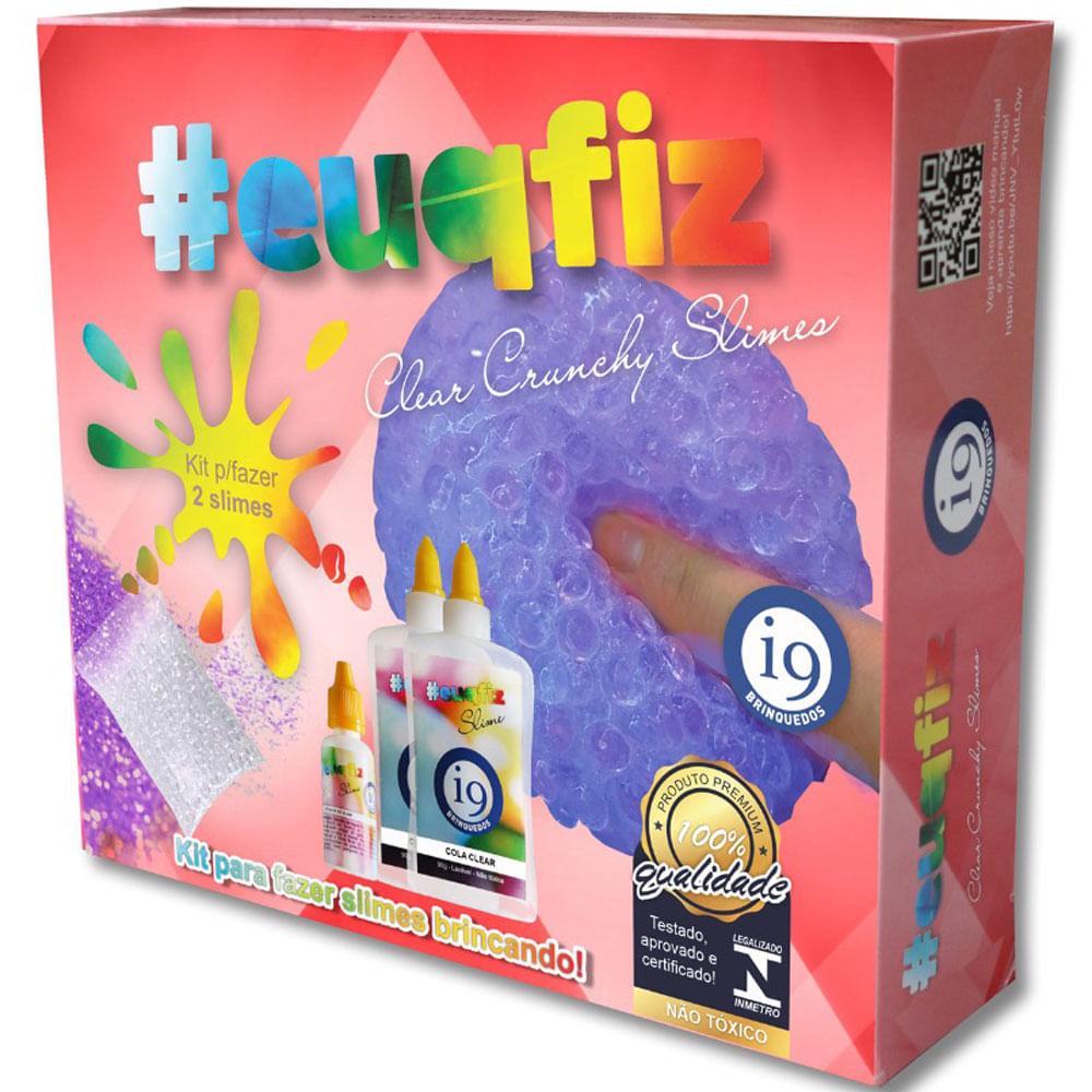 Fabrica de Slime - EUQFIZ 2 - Clear Crunchy Slimes - I9 Brinquedos