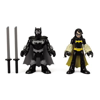 Bonecos---Imaginext-DC-Super-Amigos---Black-Bat-e-Batman-Ninja---Fisher-Price