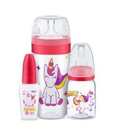 Conjunto-de-Mamadeiras---3-Unidades---Evolution-Magia-Unicornio---Rosa---Lillo