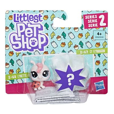 Mini-Figura---Littlest-Pet-Shop---Serie-2---Lynette-Ladyfly-Rosa-e-Cy-Flydragon---Hasbro
