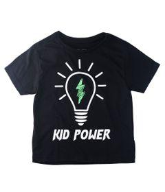 Camisa-Manga-Curta---Kid-Power---100-Algodao---Preto---Minimi---1