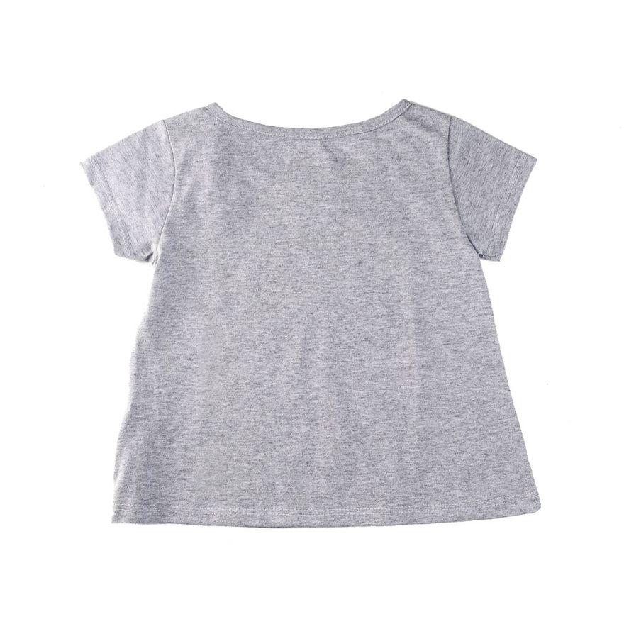 Camisa-Manga-Curta---Unicornio-Rosquinha---Algodao-e-Poliester---Cinza---Minimi---1