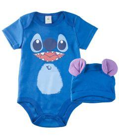 conjunto-infantil-body-manga-curta-e-bandana-stitch-100-algodao-azul-disney-p-67599_Frente