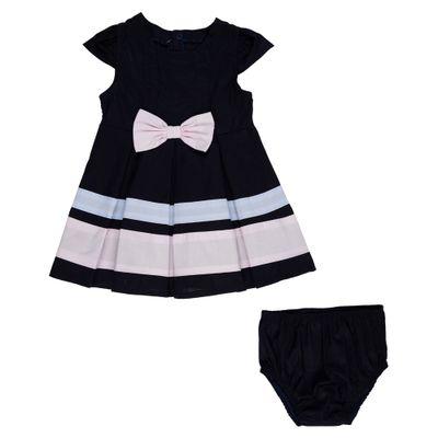 vestido-infantil-tricoline-com-lacos-algodao-marinho-minimi-p-67253_frente