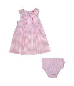 vestido-infantil-xadrez-com-botoes-algodao-e-poliester-branco-minimi-p-67255_frente