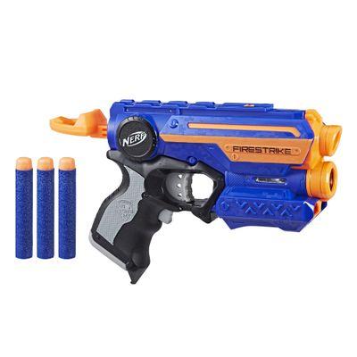 Lancador-Nerf-N-Strike-Elite---Firestrike---3x-Elite---Azul-e-Laranja---Hasbro