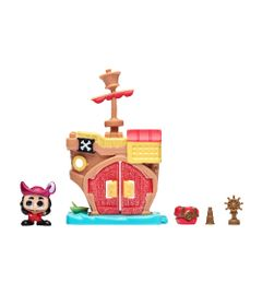 Mini-Playset-e-Mini-Figura---Disney---Doorables---Navio-Pirata-do-Capitao-Gancho---DTC