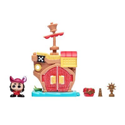 Mini-Playset-e-Mini-Figura---Disney---Doorables---Navio-Pirata-do-Capitao-Gancho---DTC