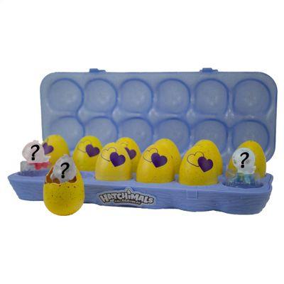 Conjunto-de-Mini-Figuras-Surpresa---Hatchimals-Colleggtibles---One-Dozen-Egg-Roxo---Serie-3---Sunny