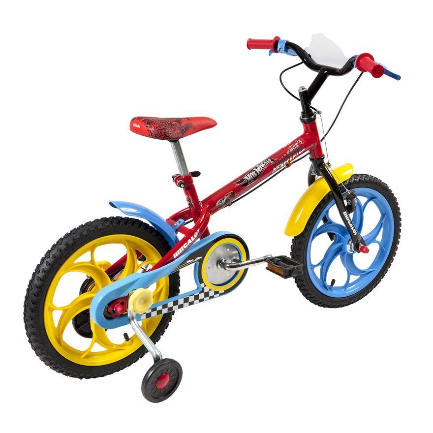 Bicicleta-Aro-16-Hotweels-Preto-e-Vermelho-Caloi_Detalhe