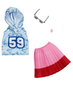 Acessorios-de-Boneca---Barbie-Fashionistas---Blusa-Azul-e-Saia-Rosa---Mattel