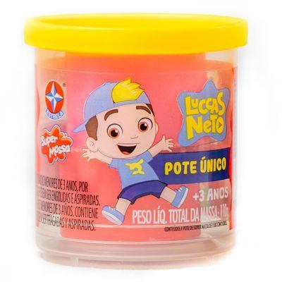 Massa-de-Modelar---Super-Massa---Luccas-Neto---Pote-Unico---110Gr---Rosa-e-Vermelho---Estrela