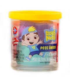 Massa-de-Modelar---Super-Massa---Luccas-Neto---Pote-Unico---110Gr---Verde-e-Roxo---Estrela