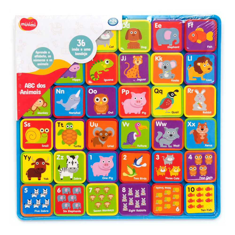 Brinquedo de Atividades - Blocos ABC dos Animais - Minimi