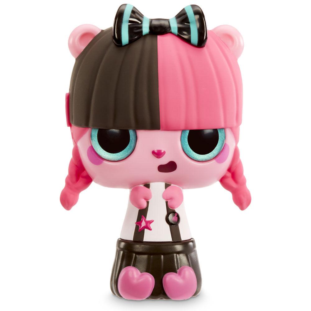 Mini Boneca e Acessórios Surpresa - Pop Pop Hair - 3 em 1 - Rock - Candide