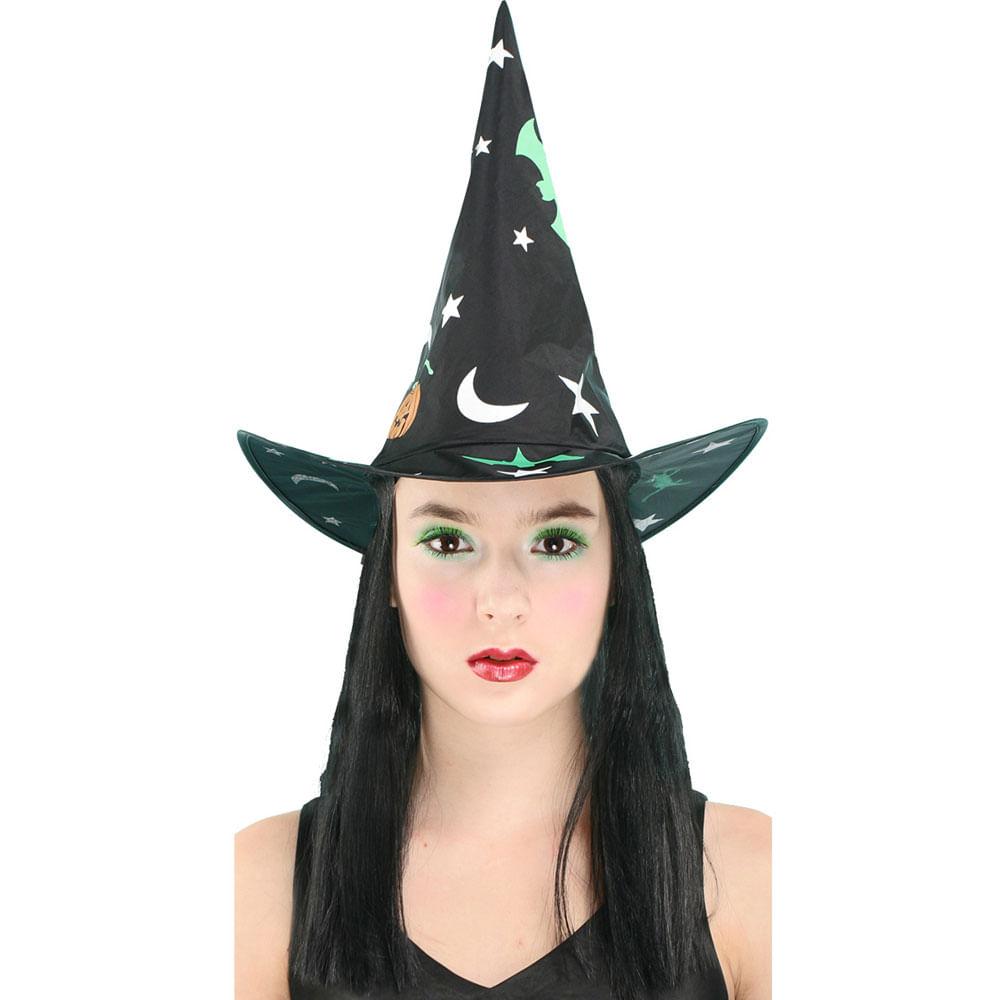 Acessórios de Fantasia - Chapéu de Bruxa Estrela - Sulamericana