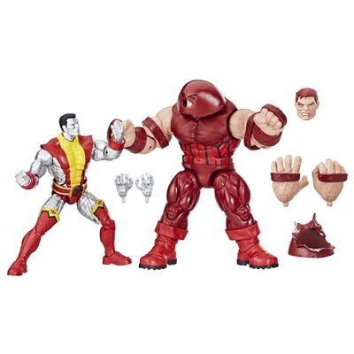 Conjunto-de-Figuras-Articuladas---Disney---Marvel-80-Years---X-Men---Colossus-Vs-Juggernault---Hasbro