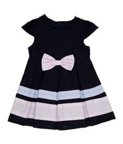 vestido-infantil-tricoline-faixas-coloridas-algodao-marinho-minimi_Frente