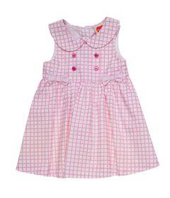 vestido-infantil-xadrez-com-botoes-algodao-branco-minimi_Frente
